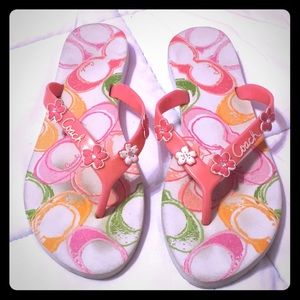 Coach Poppy Flip Flops Size 6 1/2
